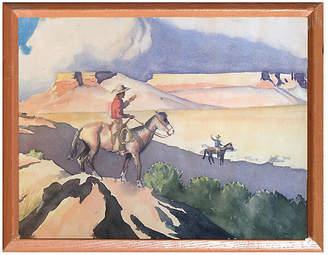 One Kings Lane Vintage Cowboy and His Horse 1929 - Robert Azensky Fine Art Art
