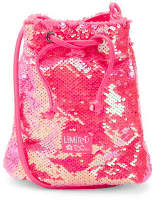 Reversible Sequin Cinch Bag