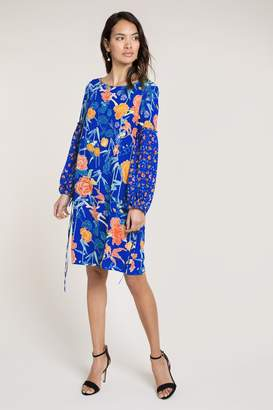 Beulah London Laksha Navy Floral Shift Dress