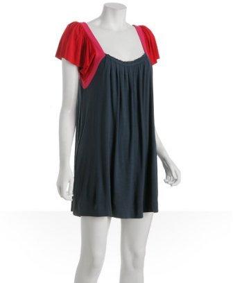 Triton by Tufi Duek dark blue stretch jersey 'Thais' dress