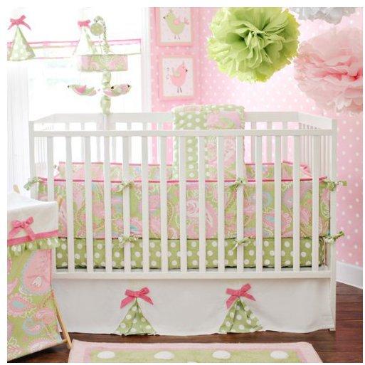 My Baby Sam 4 Piece Pixie Baby Crib Bedding Set - Pink
