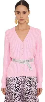 Alessandra Rich Cotton Knit Cardigan