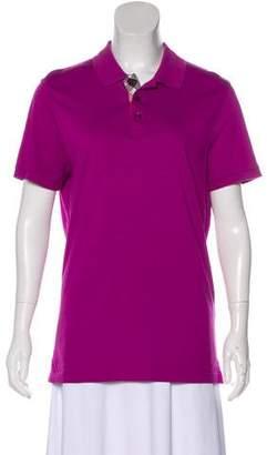 Burberry Short Sleeve Polo Top