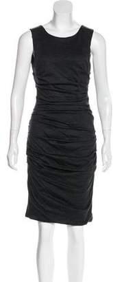Dolce & Gabbana Virgin Wool Ruched Dress
