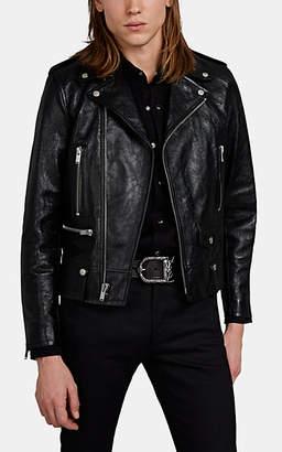 Saint Laurent Men's Leather Moto Jacket - Black