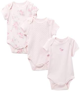 Little Me Scroll Rose Bodysuit - Pack of 3 (Baby Girls)