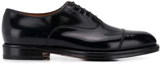 Santoni patent derby shoes
