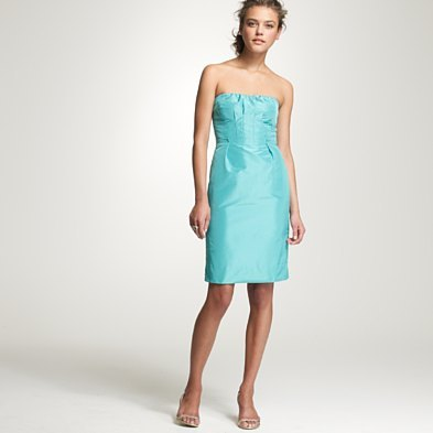 Petite strapless silk taffeta Gracen dress