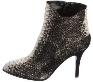 Fratelli Rossetti Python Pointed-Toe Ankle Boots