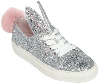 20mm Bunny Glitter Sneakers $320 thestylecure.com