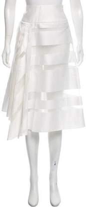 Milly Ivory Midi Skirt