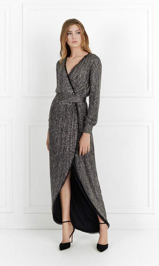 Rachel Zoe Esmeralda Long-Sleeve Beaded Gown – Shop Playsuitsandmore