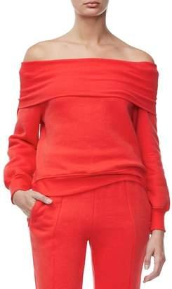 Good American Good Sweats The Cold Shoulder Sweatshirt (Regular & Plus Size)