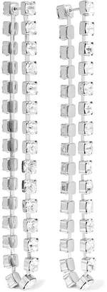 Christopher Kane Silver-tone Crystal Earrings - One size