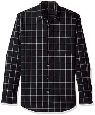 Theory Men's Grid Flannel Long Sleeve Woven