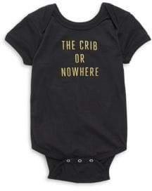 Baby's The Crib Or Nowhere Cotton Bodysuit