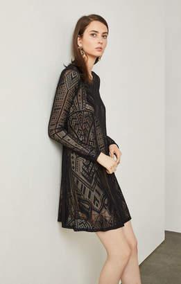 BCBGMAXAZRIA Natyly Long-Sleeve Lace Dress