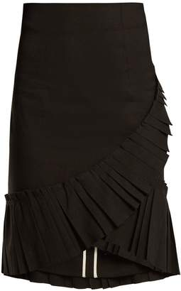 Isabel Marant Rebel pleated-hem linen-blend skirt