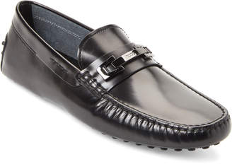 Tod's Black Spazzolato Leather Penny Drivers