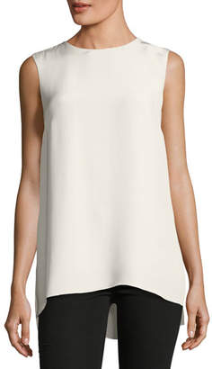 ADAM by Adam Lippes Sleeveless Silk Crepe Tunic Top