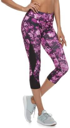 Tek Gear Women's Side Panel Mid-Rise Capri Leggings
