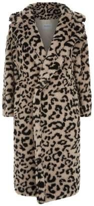 Max Mara Leopard Print Teddy Coat