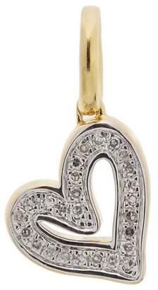 Monica Vinader Gold-Plated Alphabet Heart Diamond Pendant