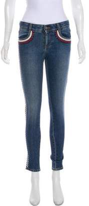 Stella McCartney Mid-Rise Embroidered Jeans