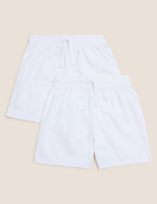 Marks and Spencer 2 Pack Unisex Pure Cotton Shorts