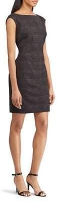 Chaps Plaid Cap Sleeve Sheath Dress
