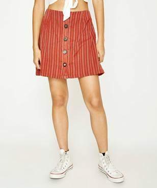 MinkPink Clovelly Button Front Skirt