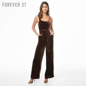 Forever 21 (フォーエバー 21) - Forever 21 ベロアオールインワン