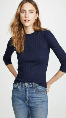 Vince Cashmere Mixed Rib Pullover