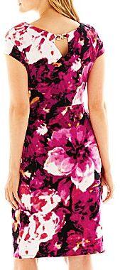 Liz Claiborne Cap-Sleeve Twisted Dress
