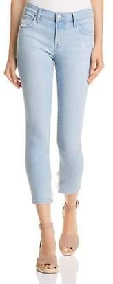 J Brand 835 Mid Rise Capri Skinny Jeans in Sky Destruct