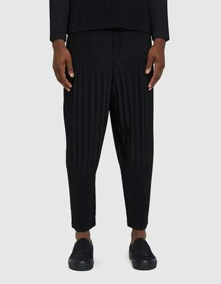 Issey Miyake Homme Plissé Basic Pleated Pants in Black