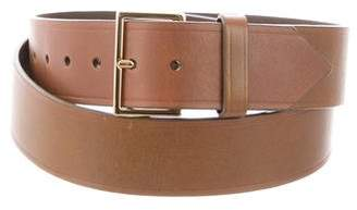Tory Burch Gold-Tone Buckle Leather Belt