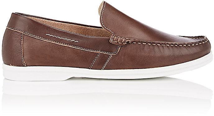 Barneys New York Barneys New York BARNEYS NEW YORK MEN'S LEATHER VENETIAN LOAFERS