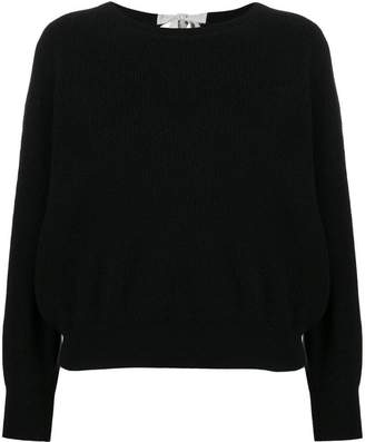 Allude tie back knit top