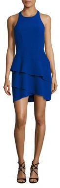 BCBGMAXAZRIA Chesney Cutout Ruffled Dress $298 thestylecure.com