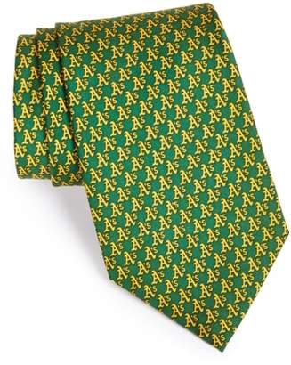 Vineyard Vines Oakland Athletics - MLB Woven Silk Tie