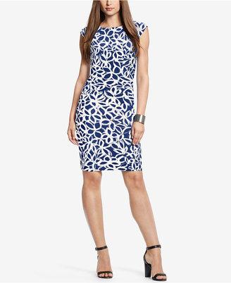 Lauren Ralph Lauren Geometric-Print Jersey Dress $134 thestylecure.com