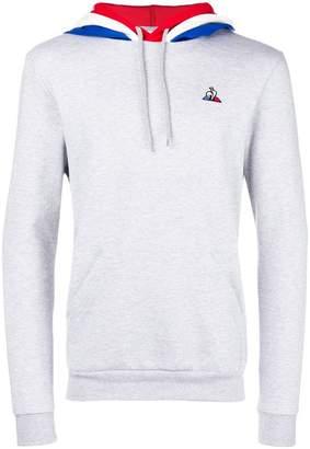 Le Coq Sportif contrast hooded sweatshirt