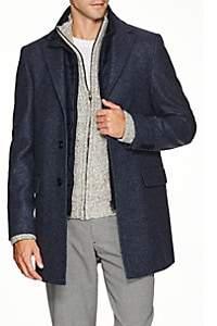 Fay Men's Pierce Vest-Lined Wool Coat - Navy