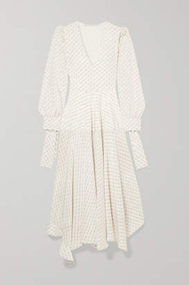 Stella McCartney Asymmetric Printed Silk Maxi Dress - Cream