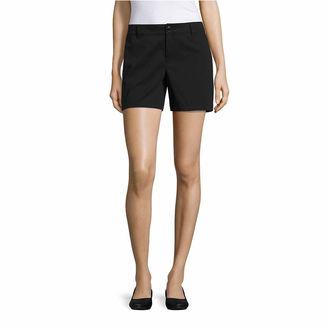 LIZ CLAIBORNE Liz Claiborne Woven Chino Shorts-Talls $40 thestylecure.com