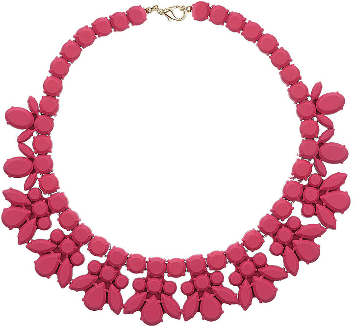 Topshop Pink jelly plastic necklace