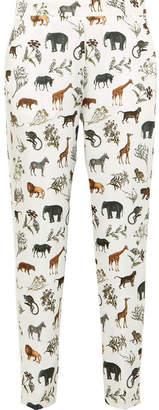 Victoria Beckham Victoria, Printed Satin-twill Pants - White