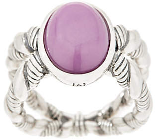 JAI Sterling Silver & Gemstone Criss-Cross Ring