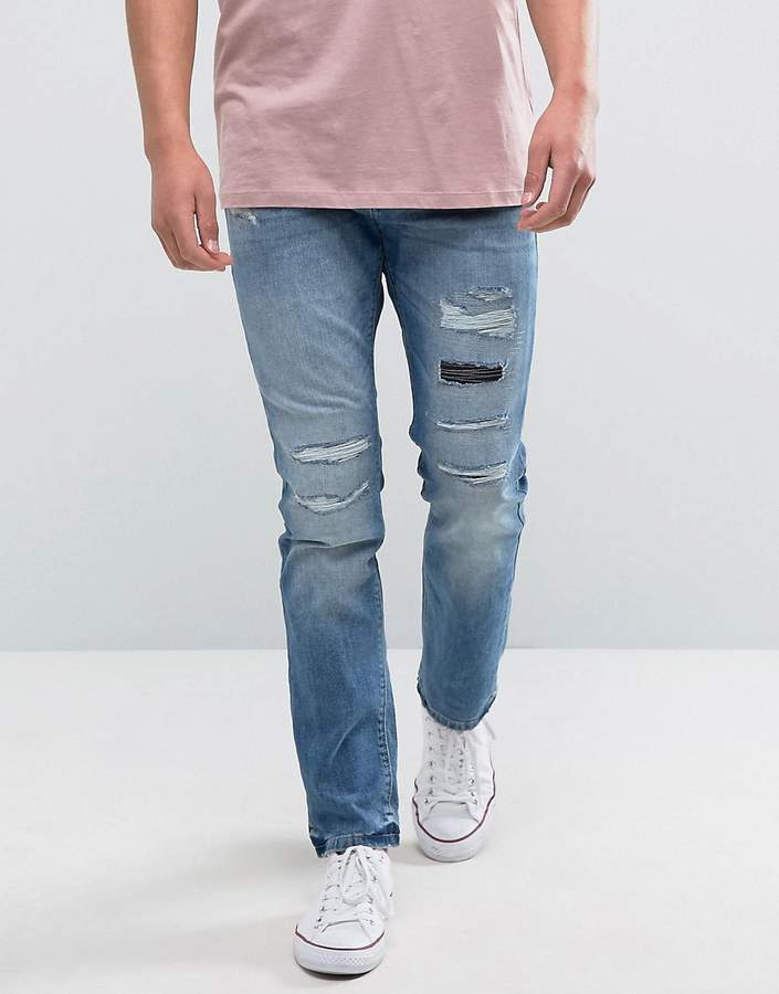 EspritEsprit Slim Fit Distressed Jeans